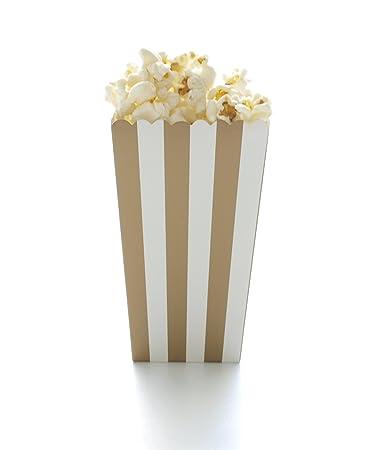 Amazon.com: Gold Stripe Popcorn Boxes (12 Pack) - Wedding ...