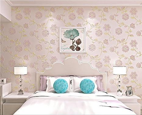 Carta Da Parati Damascata Rosa : H m wallpaper più spessa stile damasco d in rilievo non tessuto