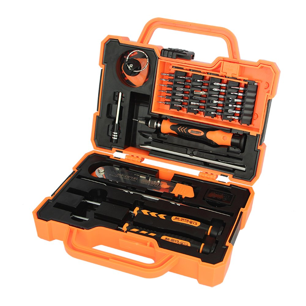 45 in 1 Magnetic Repair Tool Kit Screwdriver set Hardware Screwdriver Kit with Portable Box for iPhone/ Plus/ Game Console/ Tablet/ PC/ MacBook/ iPad and Other Electronics