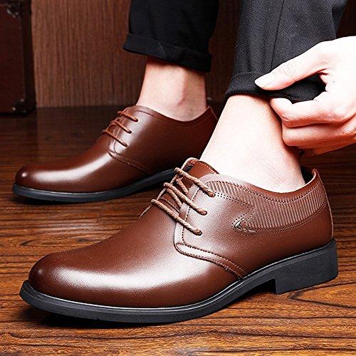 Oxford Primavera Formali piatta per Fang EU shoes Color Estate Dimensione da gentiluomini Scarpe Marrone pelle classiche in vera Morbida Marrone 2018 uomo suola 41 88ZwfE6qx