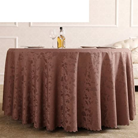 Hotel Tablecloth Table Cloth,Large Round Cotton Tablecloth, White And Brown Table  Cloth