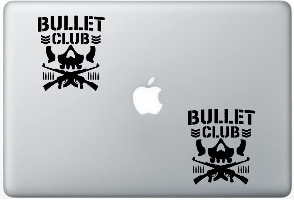 Bullet Club New Japan Pro Wrestling FlashDecals0473 Set Of Two (2x) , Decal , Sticker , Laptop , Ipad , Car , Truck