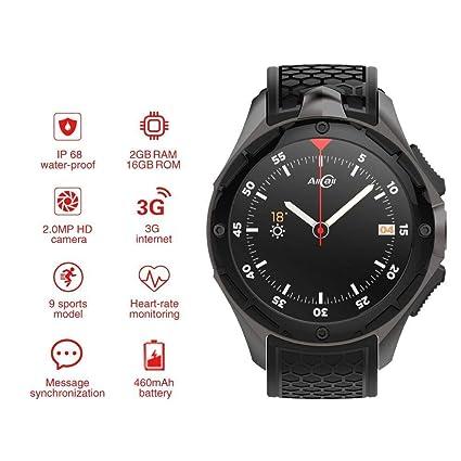 Amazon.com: BUYYO AllCall W2 Smartwatch, 3G Smartwatch Phone ...