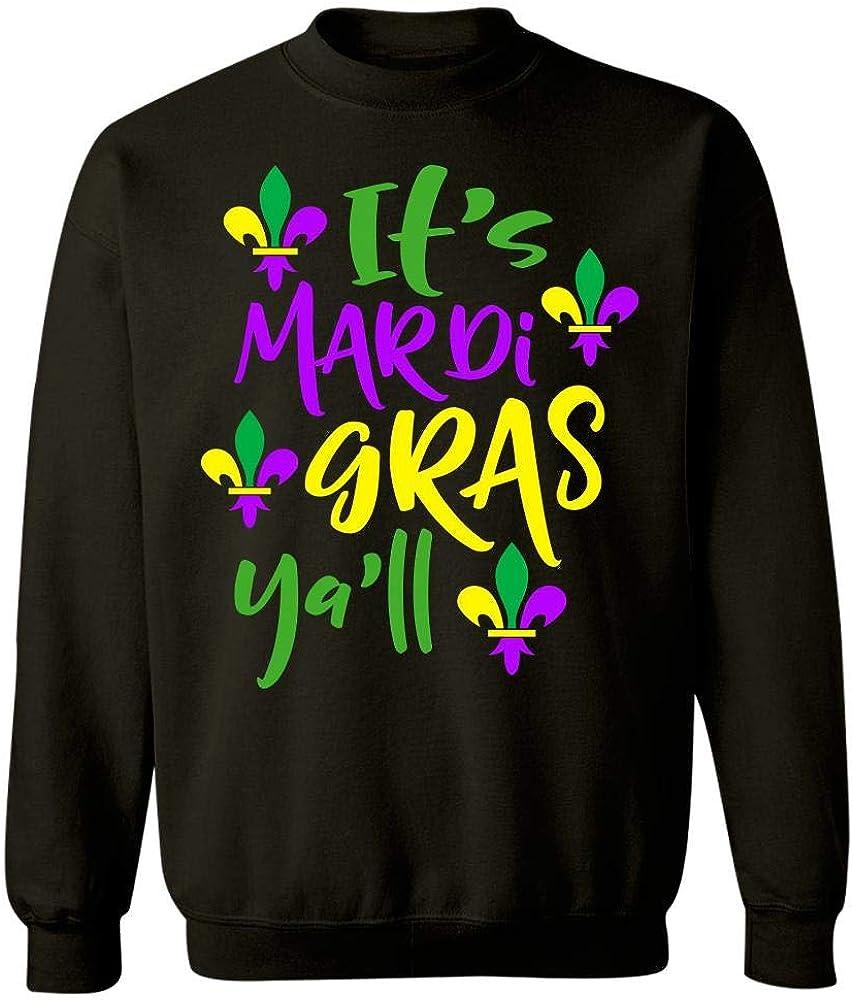 Sweatshirt Its Mardi Gras Yall Fleur De Lis