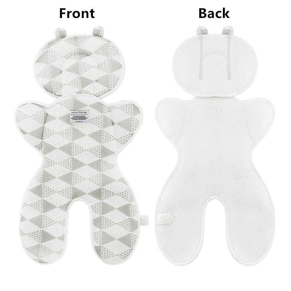 Kindersitz und Babyschale -verringert Schwitzen Ihres Kindes und sch/ützt den Sitzbezug vor Flecken Sitzauflage f/ür Kinderwagen Atmungsaktive Sommer Sitzeinlage Buggy Pink-A