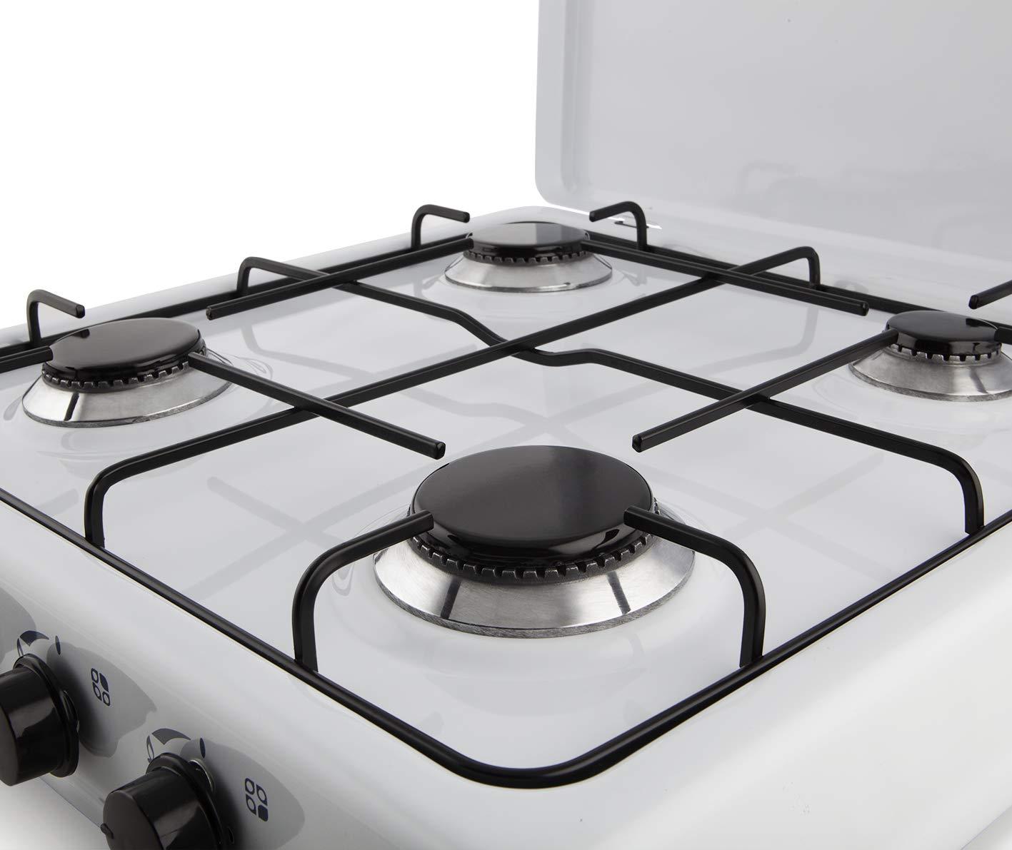 Orbegozo FO 4550 4550-Hornillo Gas, 4 quemadores, 1400 W, Esmaltado, Color blanco: Amazon.es: Hogar
