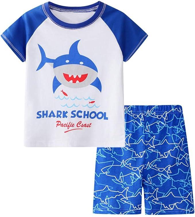 da 12 mesi a 4 anni Pigiama estivo per bambini a forma di squalo