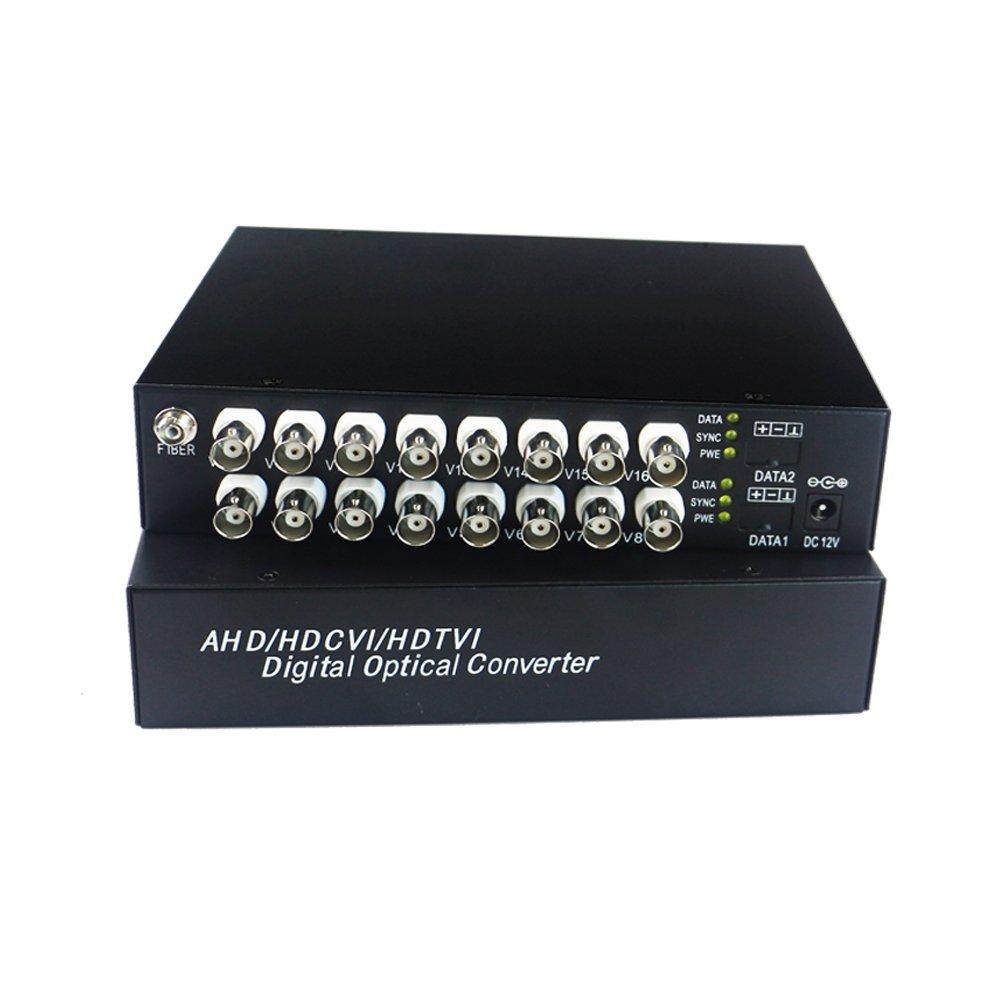 Guantai HD 960P/720P CVI AHD TVI 16 Channels Video Fiber Optical Media Converters ,FC, Singlemode 10Km for 960p 720p AHD CVI TVI CCTV
