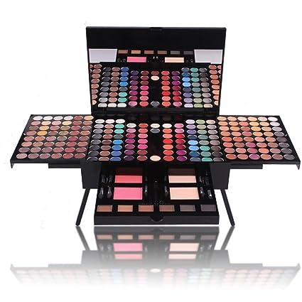 JasCherry 190 Colores Sombra De Ojos Paleta de Maquillaje Cosmética - Incluye Blush y Polvos Compactos