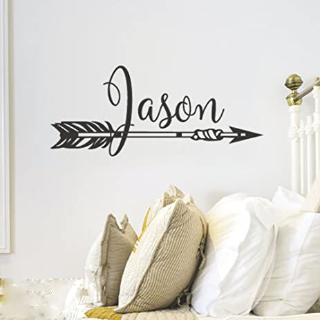 Amazon.com: BATTOO Personalized Arrow Name Wall Decal- Boys Name ...
