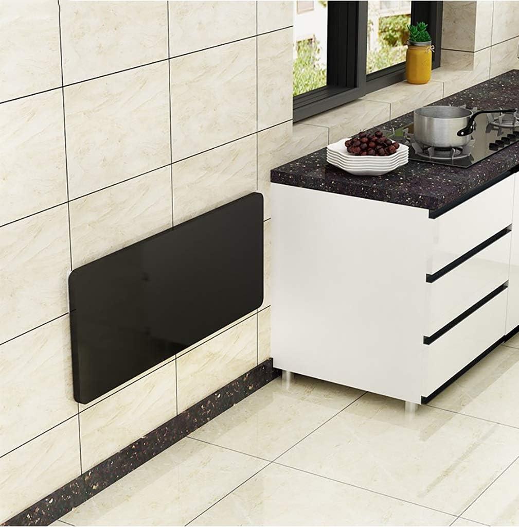 壁掛け式ドロップリーフテーブル、折りたたみキッチン&ダイニングテーブルデスク、取り付けネジ付き子供用ラップトップテーブル、負荷50-100kg(色:黒、サイズ:90X50cm)