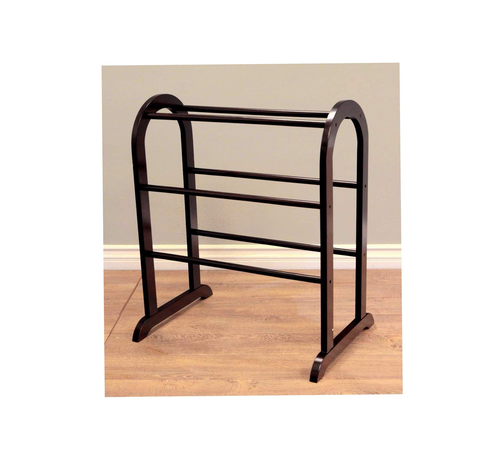 Wood & Style Quilt Rack Comfy Living Home Décor Furniture Heavy Duty
