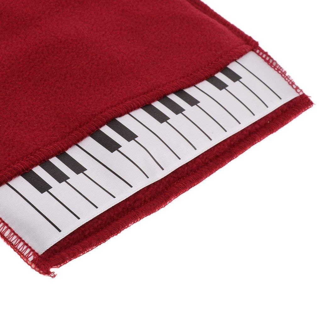 Sgerste 1/x clavier de piano Gant de nettoyage Duster Chiffon pour piano Accessoires Rouge