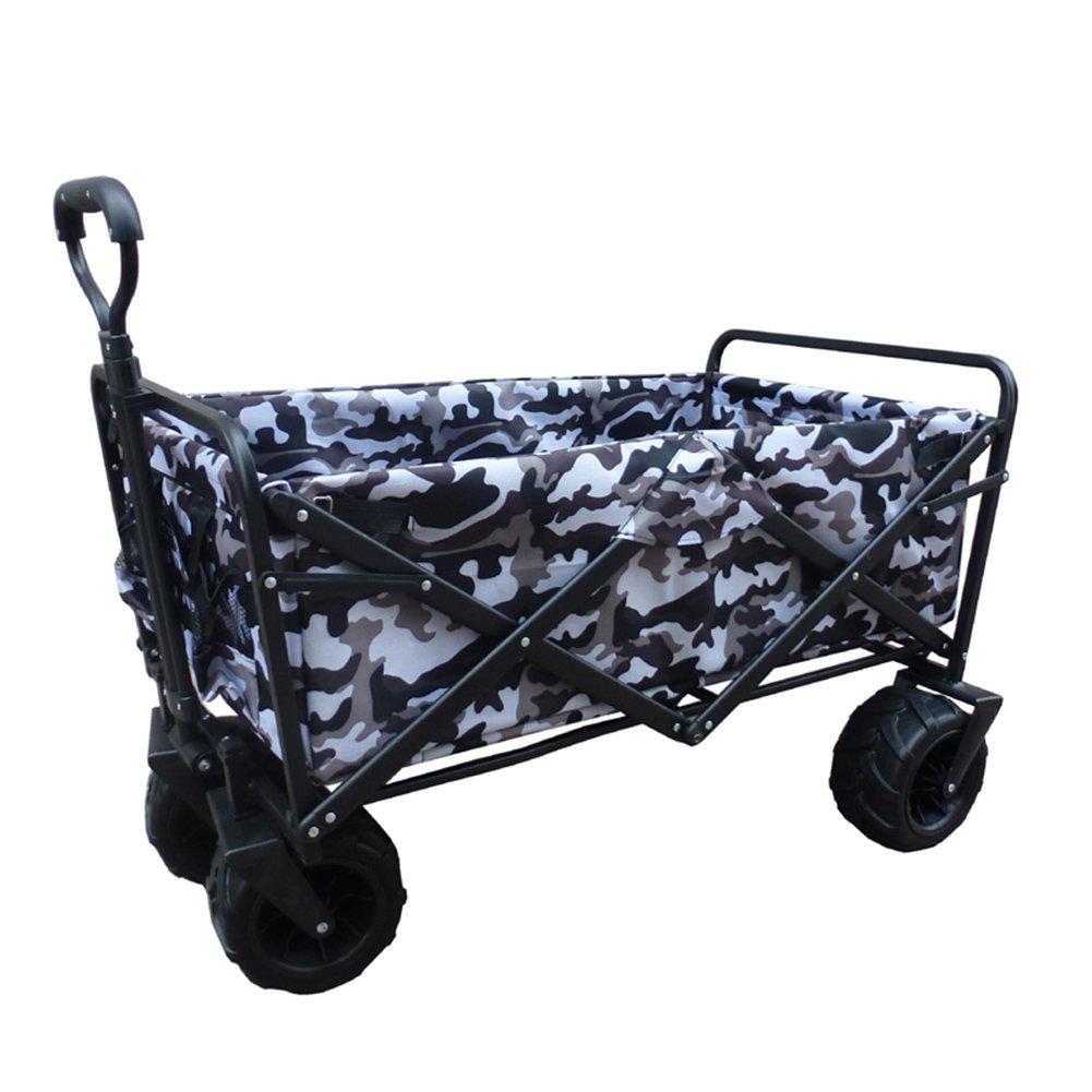 キャリーカートアウトドアワゴン軽い ショッピング車 4つの輪がある ごみを輸送する 鉄棒 オックスフォード布 7迷彩 色 (色 : 7#, サイズ さいず : 100x50x55cm) B07FY7K6K7  7# 100x50x55cm