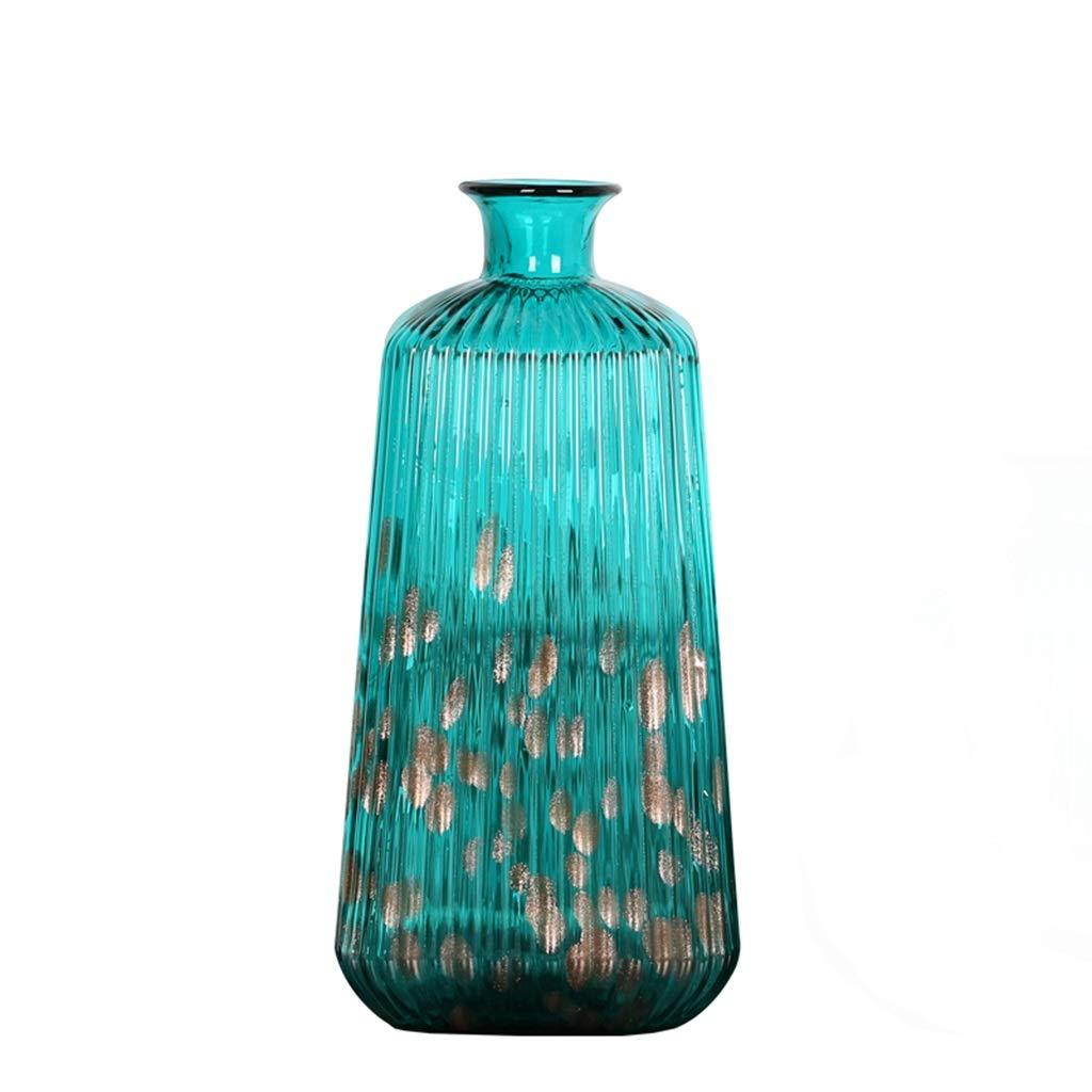 フラワーベース花器 花瓶クリスタルガラスの花瓶アートデコレーションフラワーアレンジメントホームデコレーション工芸品 (Color : Green, Size : 16*39.5cm) B07T73J53N Green 16*39.5cm
