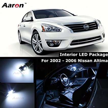 Aaron Premium Cool White Interior Led Kit Package For 2002 2004