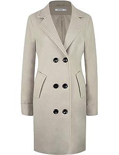 Elegant Lang Revers Damen Mantel Zweireiher Bluelucon Winter TFlc31JuK