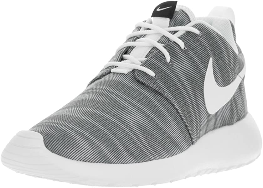 6b5c8eab19 Nike Women s Roshe One Print White Black Cool Grey Running Shoe 8 Women US