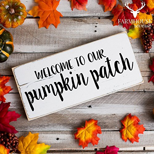 Welcome to Our Pumpkin Patch Sign | Rustic Sign | Rustic Decor | Rustic Sign | Farmhouse Decor | Farmhouse Style Sign | Country Home Decor | Shabby Chic Sign (Pumpkin Welcome Sign)