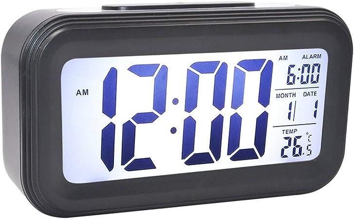 Réveil Numérique Table Temps Température Écran Électrique Maison LED LCD Snooze