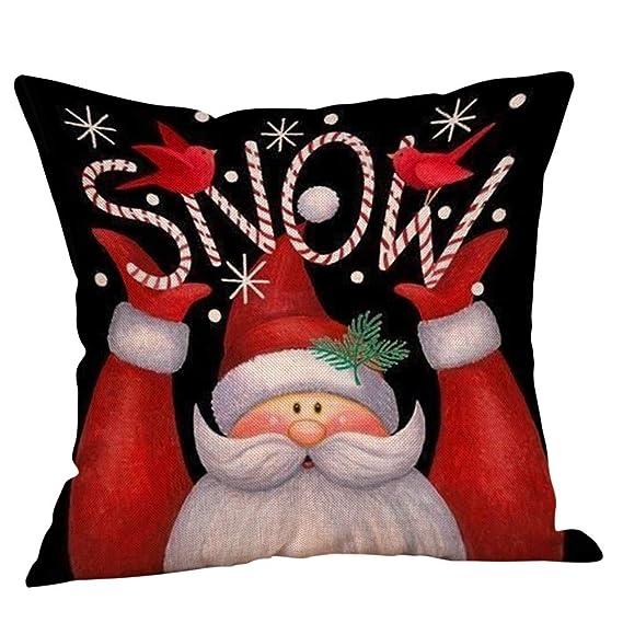 Fossrn Fundas Cojines de Navidad Patrón de Papa Noel ...