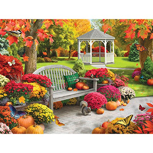 Bits and Pieces - 300 Large Piece Jigsaw Puzzle for Adults - Autumn Oasis II - 300 pc Fall Scene Jigsaw by Artist Alan ()