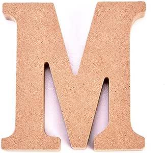 Ingeniously Adornos de Letras de Madera DIY Innovative 26 Large A-Z Alphabet Crafts para la decoraci/ón de la Mesa de la Boda en casa