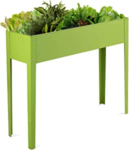 """Giantex Outdoor Elevated Garden Plant Stand Raised Tall Flower Bed Box (40""""Lx13W""""x31.5""""H)"""