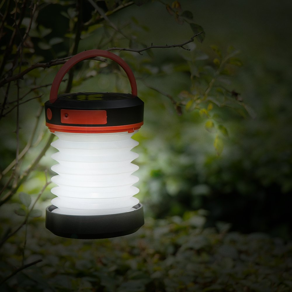 Thorfire Camping Lantern USB Rechargeable Solar Powered Emergency Light LED Camping Tent Light Lamp Portable Flashlight Safe Light for Camping Hiking Jogging Night Walking -CL04 by Thorfire (Image #7)