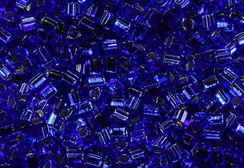 11/0 Triangle TOHO Japanese Glass Seed Beads # 28-Silver-Lined Cobalt 15g