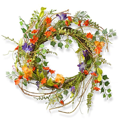 National Tree 22 Inch Branch Wreath with Mixed