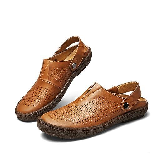 LINNUO Sandalias Hombre Zuecos de Playa Piscina Vestir Zapatillas Slippers  Chanclas Pescador Zapatos Verano  Amazon.es  Zapatos y complementos d8845b30c06