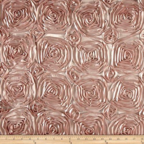 Ben Textiles Wedding Rosette Satin Blush Pink, Blush Pink