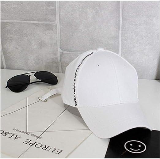 Gorra de béisbol Blanca Carta de la Marea Coreana Primavera Verano ...