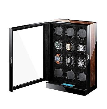 LNDDP Rectángulo Reloj enrollador automático silencioso para 12 Relojes, Caja Doble Madera para enrollador Reloj con Motor silencioso: Amazon.es: Deportes y aire libre
