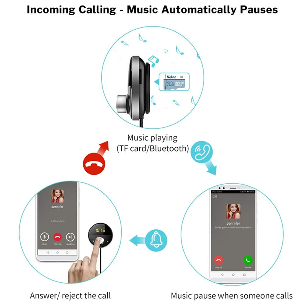 Bluetooth FM Modulator Car MP3 Player Handsfree Audio USB SD TF Card FM Transmitter CarKit Auto Speakerphone USB Adapter