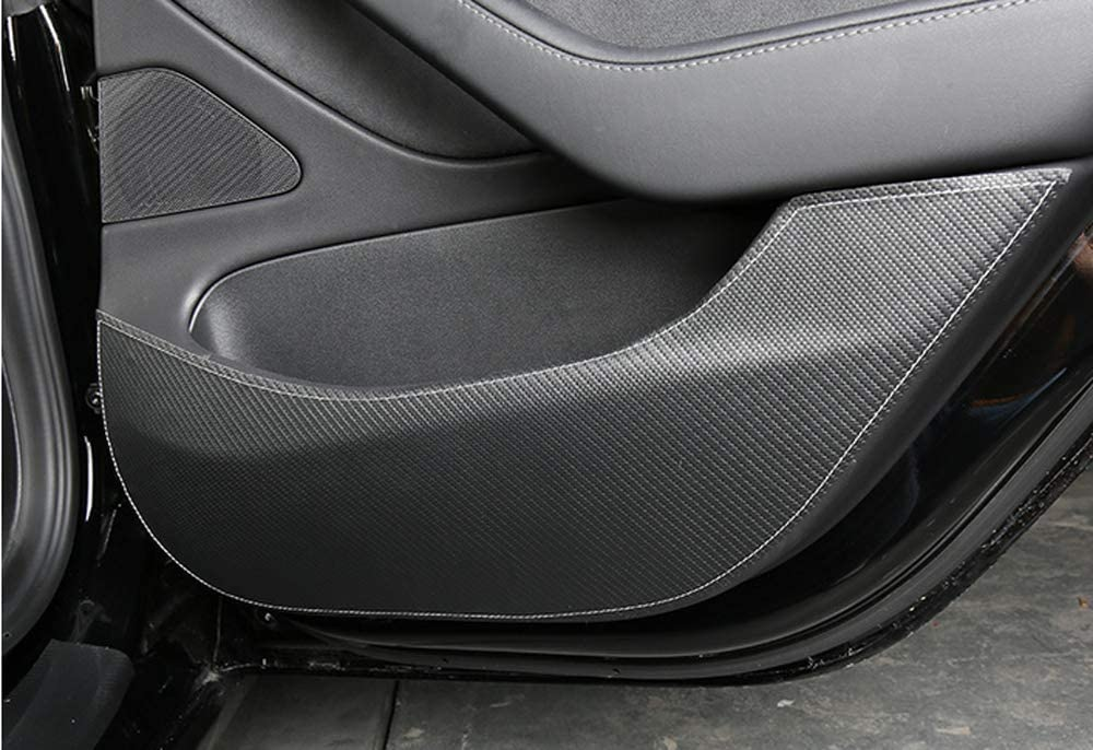 Salusy Door Protector Anti-Kick Mat Protective Cover Compatible for Tesla Model 3 2017 2018 2019