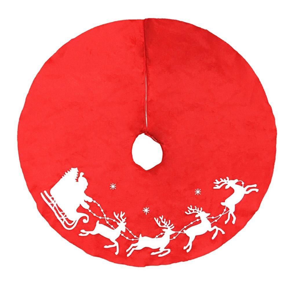 Demiawaking Gonna di Decorazione per Albero di Natale di Modello di Babbo Natale e Cervi Decorazione Natalizia Ornamento Domestico