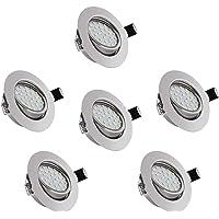 6 piezas 5W Focos Empotrables LED, bapro 450LM Focos Empotrable de Techo LED, IP44 Luz de Techo Blanco Cálido 3000K…
