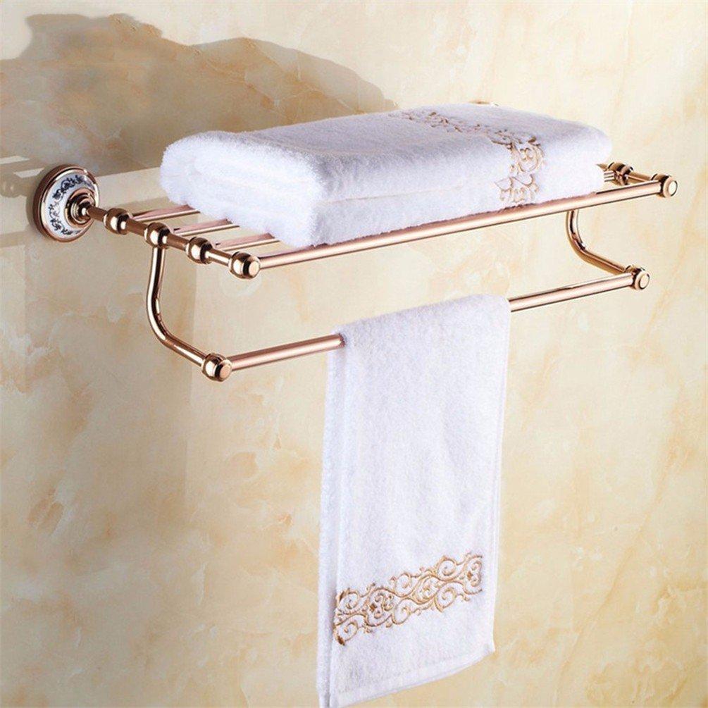 Laonaの銅ローズゴールドAで壁浴室タオルラックトイレットペーパータオルロッドコートフック 9753468188209 B076FXRGGH Towel Rack