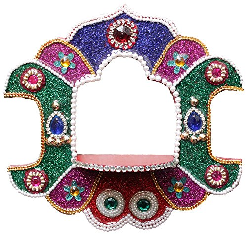 Crafticia Indian Antique Craft Rajasthani Pink City Jaipur Unique Traditional Wooden Handmade Washable Chemical Handicraft Hanging Temple Decorative Christmas Gift Item Home / Wall Decor ()