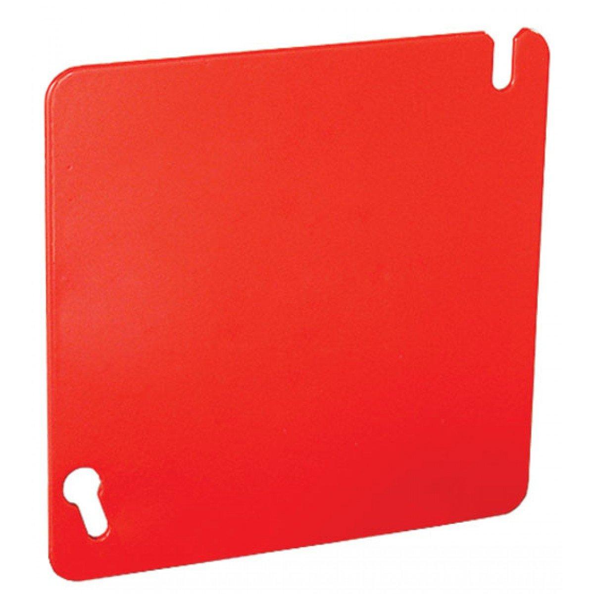10 Pcs, Zinc Plated Steel Painted Red 4 Square Flat Cover, Blank Easily Detectable As Fire Alarm Or Safety Circuits