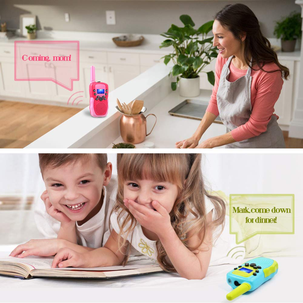 OMWay 3 Pack Kids Walkie Talkies, Toys for Girls 3-12 Year Old,Best Birthday Gifts for Kids. by OMWay (Image #5)
