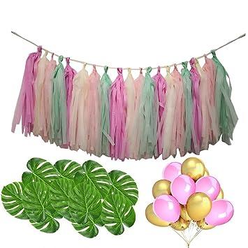 Conjunto de fiesta hawaiana decoraciones guirnaldas de lujo ...