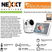 RooMate Baby Monitor full motion Pan-Tilt-Zoom camera + 3.5-inch color monitor