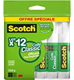 Scotch Lot de 12 Btons de Colle 8g