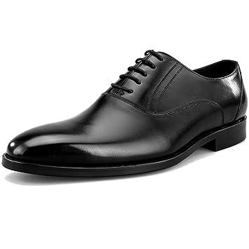 MERRYHE Herren Classic Oxford Echtleder Derby Business Anzug Schuhe Brogues Formale Schuh Spitze Ups Square-Toe...