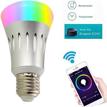 YUNI Smart WiFi Bulb Bombilla LED Alexa Smartphone Control remoto ...