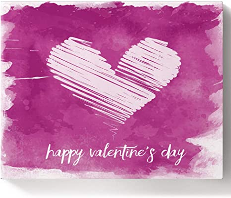 Amazon Com Loopop Happy Valentine S Day Painting By Number Kit On Canvas For Beginners Easy Acrylic With Paints And Brushes Unique Gift Hand Drawing Heart Romantic Art 12x16 Inch
