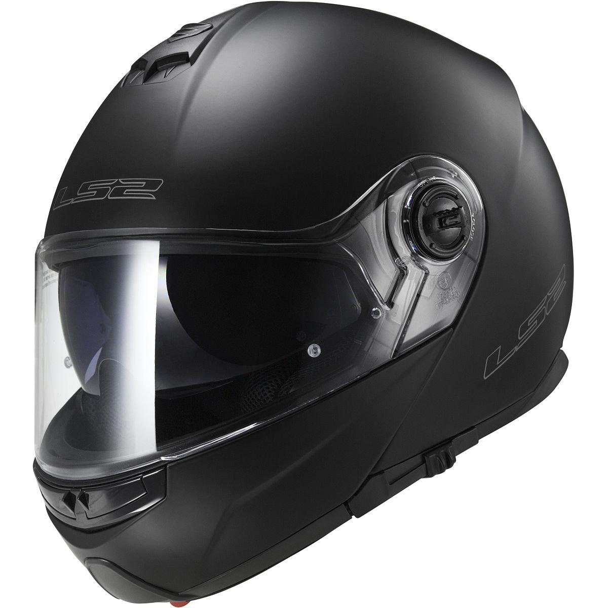 LS2 Helmets Strobe Solid Modular Motorcycle Helmet with Sunshield (Matte Black, Medium) by LS2 Helmets